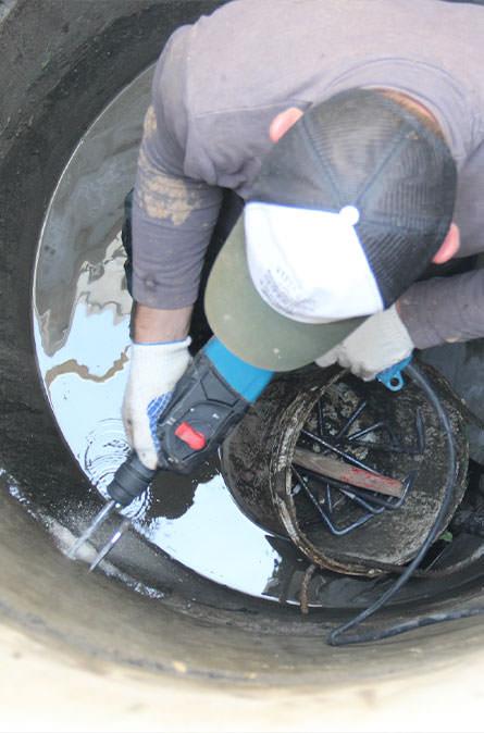 Как мы выполняем ремонт колодцев в Ермолино